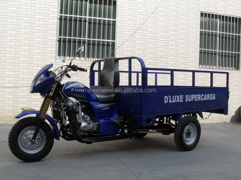 Big Power 200cc Three Wheel Motorcycle With Enclosed Cargo Box On Sale