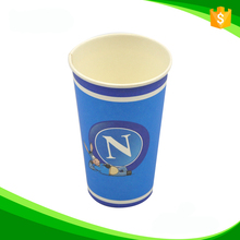bright colorful ecofriendly single/double wall beverage paper cup 12ozwood pulp quality AAA from Shandong