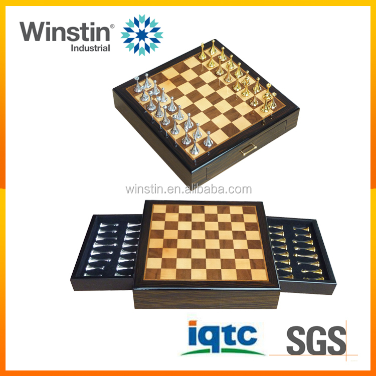 WINSTIN 2016 Drawer Design Custom Chess Games Wooden Chess Boxes