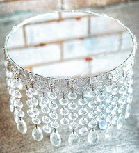 Round Diamante Mirror Plate- Cake Stand,Party Wedding Table Centerpiece