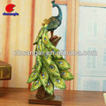 Peacock Figurine Decor, Peacock Statue Craft , Custom Resin Animal Model