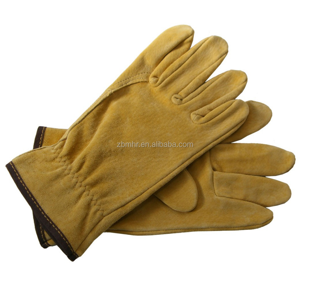 Brand MHR Hot!Reinforced blossom gloves welding leather working gloves