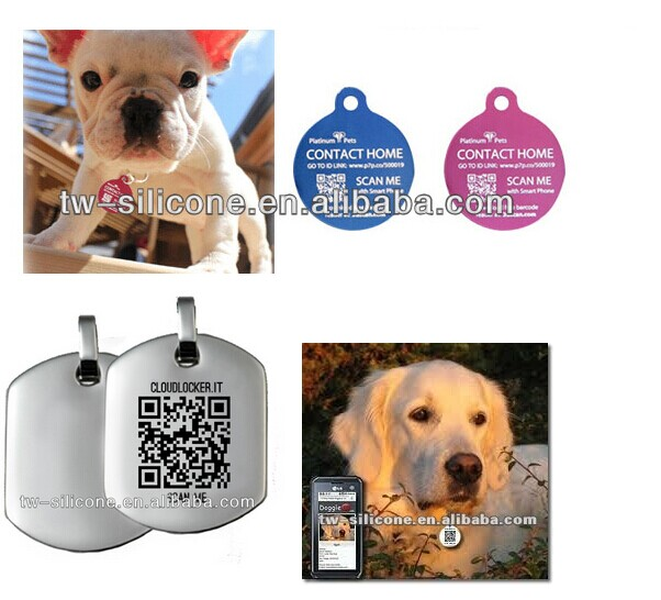 Pet products QR dog collar tag China supplier
