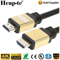Factory OEM 1m 1.5m 3m 5m 10m 15m 20m HDMI 2.0 Cable support 4K 2160P,1080P,3D,Audio Return Ethernet - (Golden)