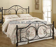 Beautiful steel furniture hand-forged comfortable wrought iron bed design for bedroom