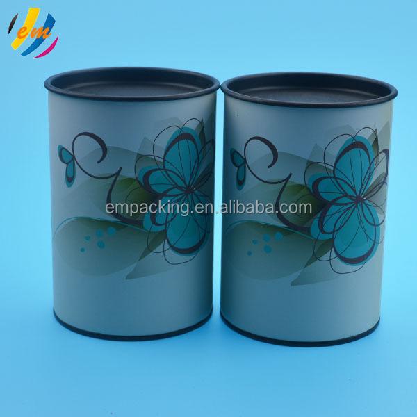 Fasionable design round cardboard boxes with metal lids