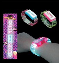 flashing transparent led bracelet with letter