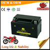 Advanced 12v 6.5ah Maintenance-free motorcycle battery for motocycle