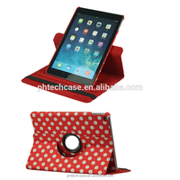 2017 New Items360 Rotate Sublimation Leather Tablet Case For iPad 5
