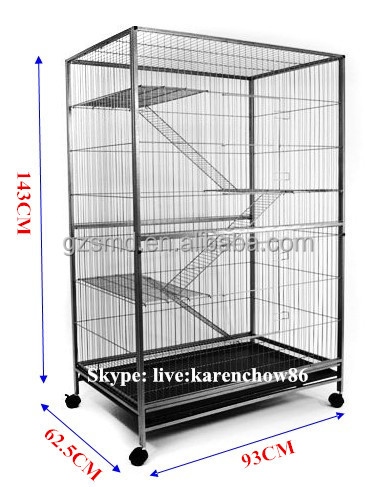3 Level Indoor Large Metal Chinchilla Cage