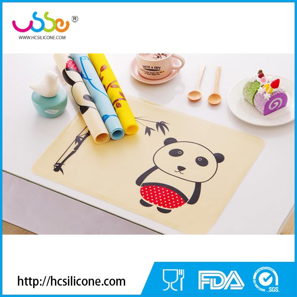 Cartoon design heat Resistant Silicone Baby Placemat
