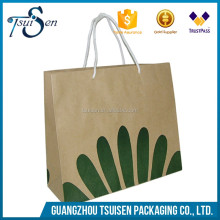 creative twisted handles brown kraft paper bag china