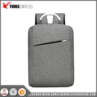 Gray Black Blue Brown Double Back Fashion Canvas Laptop Bag