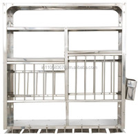 Middle Stainless Steel Plate Rack (Wall Hanging) 30X30 [RBJ]