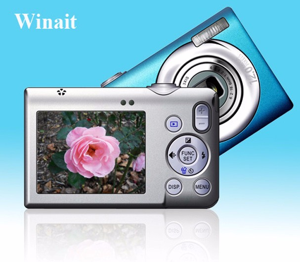 WInait hot selling 2.4inch LCD Slim card style digital camera with 15.0MPwith DC-E10