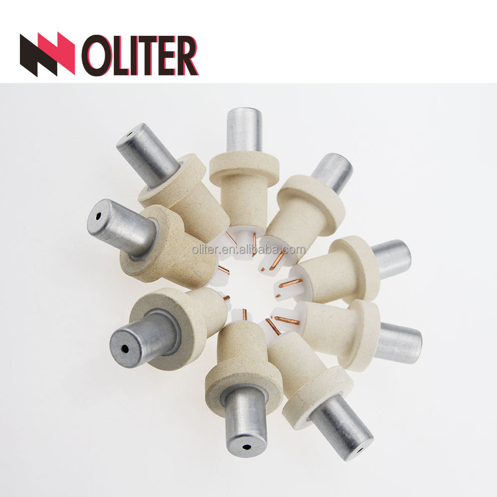 OLITER pt rh consumable immersion expendable top level type r thermocouple for high <strong>temperature</strong> with 604 triangle tip