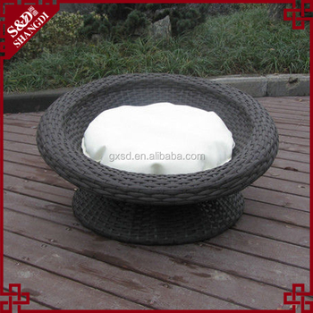 Alibaba pet supply wholesale newest patio wicker round pet bed