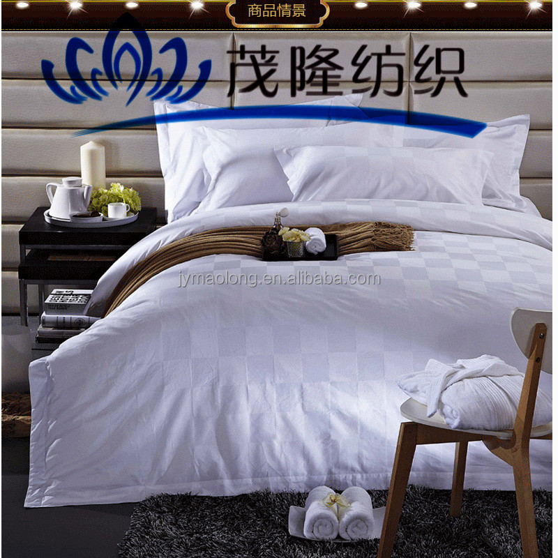 China Supply White Grid Bedding Set for hotel