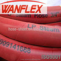 ISO 3-1/4inch high temperature high pressure heat resistant flexible stainless steel rubber steam hose with fittings