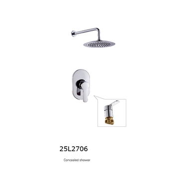 shower wall mounted led 3 color change concealed shower set with massage spray body jets and 3 way shower diverter valve