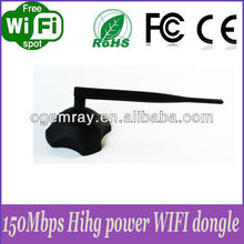 Strong signal 11n 150Mbps wifi usb dongle with detachable antenna