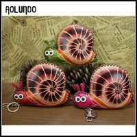 New popular snail key holder money design veg. tanned leather wallet