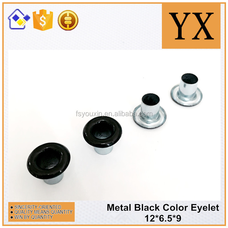 12mm metal black eyelet for shoes