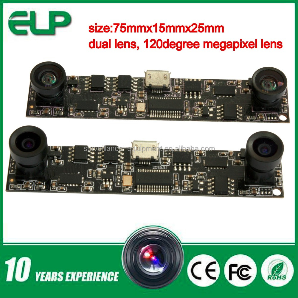 high speed dual lens 720p ov9712 MJPEG&YUY2 usb camera module in cctv camera for law enforcement