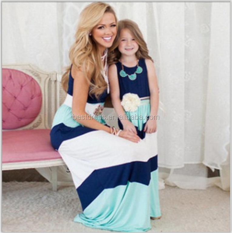 Family Look Matching Outfits Clothes Set Mother Daughter Kids Clothing Dress