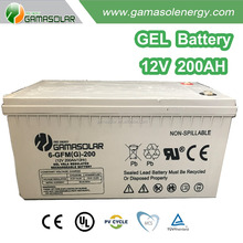 Gama Solar rechargeable 12v 200ah lead acid battery for home lighting system