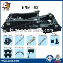 Heavy duty truck wheel alignment scissor lift