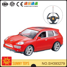 1:18 4CH remote control electric car for kids with streering wheel controller, gravity sense ,3D light and music