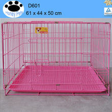 Folding Wire Dog Crate Two Door Medium Collapsible plastic pet airline cage dog transport cage