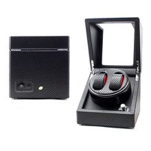 Mabuchi Motor Automatic Leather Carbon Fiber Watch Winder
