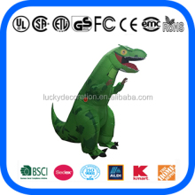 Hot Sale Adult Green T-rex inflatable Dinosaur costume