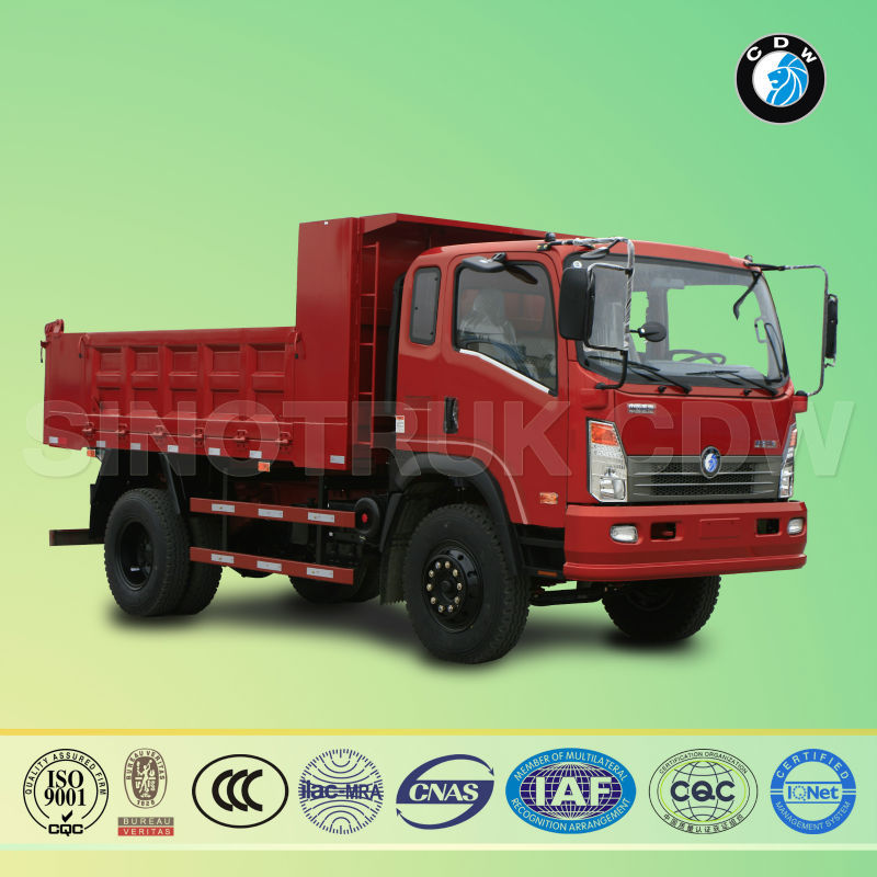 Sinotruk CDW diesel Euro-II 160HP 10forwards 10ton hydraulic system for used dump truck beds for sale