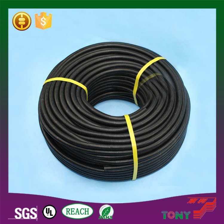 Black PVC coat corrugated Flexible plastic tubes