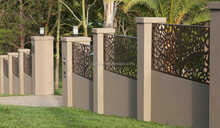 Residential quarters decorative metal fence in powder coating