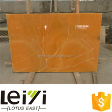 Beautiful Indoor Transparent Onyx Yellow Backlit Agate Stone Slab