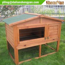 Wood Rabbit House with Sloped Roof for Sale