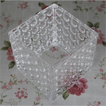 Wholesale Competitive Price, New Design and High Quality Clear Square Cheap Glass Vases with Ball Pattern