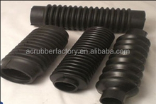 machinery NBR CR NR EPDM Silicone Viton FKM accordion rubber 40mm hole dia flexible corrugated moulded bellow