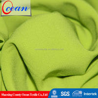 4 way stretch fabric manufacturers, cheap wholesale moss crepe fabric