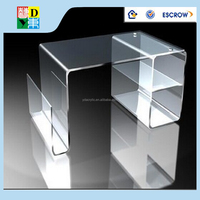 Acrylic computer table clear/acrylic office furniture with high quality made in China low price /acrylic computer desk