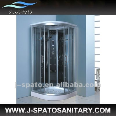 Massage jets shower tub with steamer