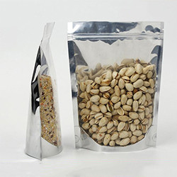 stand up coffee bag with zipper valve blank coffee bean packaging bags