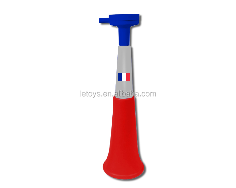 2018 World Cup football fans plastic 3 sections retractable French horn/World Cup hot sale vuvuzela