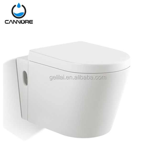 Chaozhou A grade ceramic material bathroom toilet wall hung wc water closet with slow down toilet seat cover