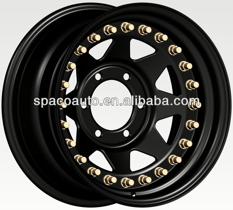 3 pieces 18 inch steel wheels double side beadlock