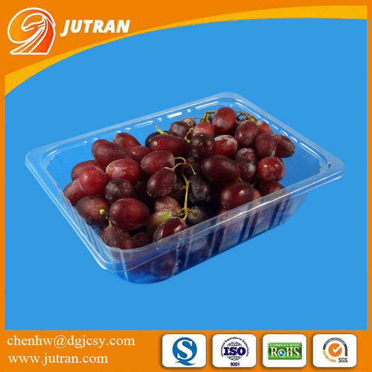China Factory Hot Sale Disposable Plastic Fresh Grape Fruit Food Packing Tray